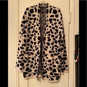 Leopard print cardigan NWOT